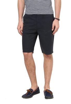 Jack & Jones Solid Men's Blue Basic Shorts