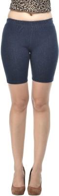Frenchtrendz Solid Women's Dark Blue Denim Shorts