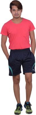 Dev Solid Men's Blue Sports Shorts