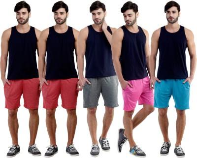 Dee Mannequin Self Design Men's Red, Red, Grey, Pink, Blue Sports Shorts