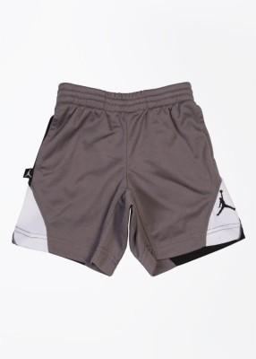 Jordan Kids Solid Boy's Grey Sports Shorts