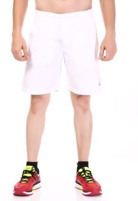 Asics Solid Men's White Sports Shorts