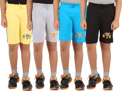 Zippy Printed, Solid Boy's Multicolor Basic Shorts