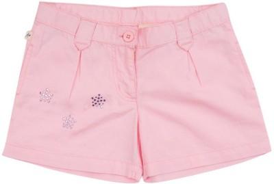 Aristot Embellished Girl's Pink Beach Shorts