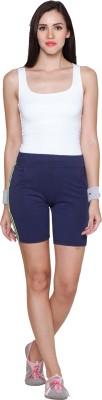 Sweet Dreams Striped Women's Blue Sports Shorts