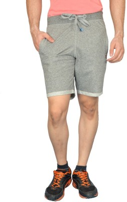 London Eye Self Design Men's Grey Gym Shorts