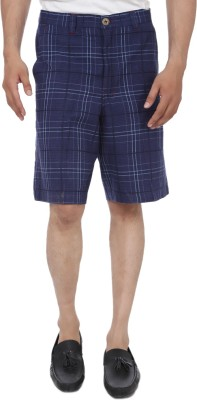 Reevolution Checkered Mens Blue, White Basic Shorts