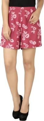 Eves Pret A Porter Floral Print Women's Pink Basic Shorts