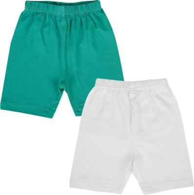 Lula Solid Girl's Green, White Cycling Shorts