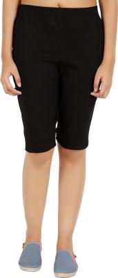 NOTYETbyus Solid Women's Black Cycling Shorts