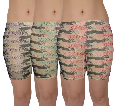 Selfcare Printed Women's Multicolor Cycling Shorts
