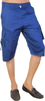 Parade Solid Men,s Dark Blue Bermuda Shorts