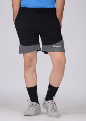 Chromozome Solid Men's Black, Grey Shorts