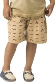 Bluebuck Short For Boys Cotton (Brown, P...