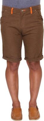 Ramarrow Solid Men's Brown Chino Shorts