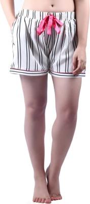 Vixenwrap Striped Women's White Night Shorts