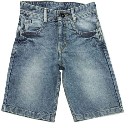 NASCENT Solid Boy,s Light Blue Denim Shorts