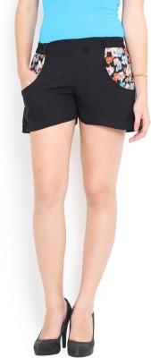 Trend Arrest Solid Women's Black Basic Shorts