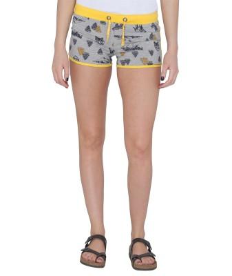Pepperika Printed Women's Grey Hotpants