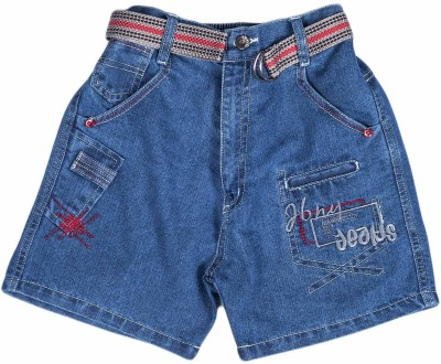 Don Solid Boy's Dark Blue Denim Shorts