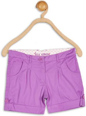 612 League Solid Girl's Purple Basic Shorts