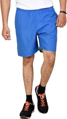 Tailor Craft Solid Men's Blue Running Shorts