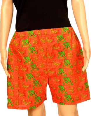 FSTOP Floral Print Women's Red Night Shorts
