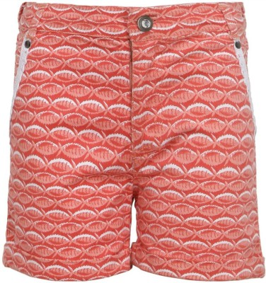 Bells and Whistles Printed Girl's Orange Basic Shorts