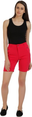 Holidae Printed Women's Red Basic Shorts