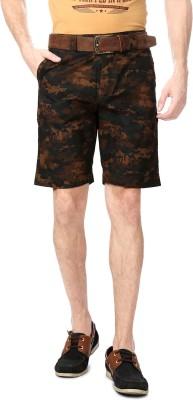 People Printed Men's Brown Basic Shorts