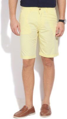 Arrow Sports Solid Men's Yellow Basic Shorts