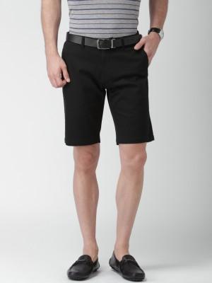 Invictus Solid Men's Black Basic Shorts