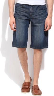 Jeanswest Australia Solid Men's Blue Denim Shorts