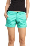 Cation Solid Women's Green Hotpants