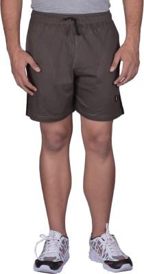 Black Casual Solid Men's Grey Sports Shorts, Basic Shorts, Cycling Shorts, Night Shorts