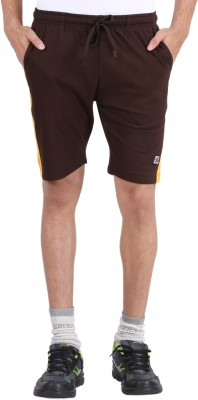 4thNeed Solid Men's Brown Beach Shorts