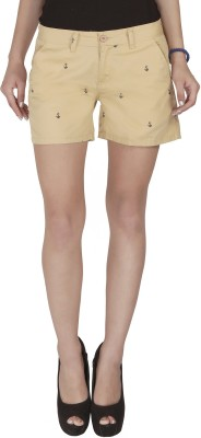 Imagica Printed Women's Beige Hotpants