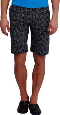 Blue77 Animal Print Men's Grey, Black Basic Shorts