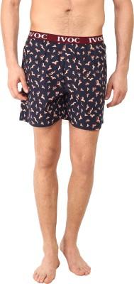 I-Voc Printed Men's Dark Blue Boxer Shorts