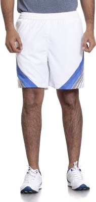 SEVEN Solid Men's White Running Shorts