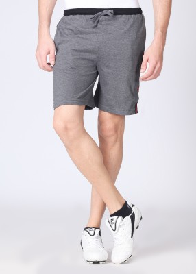 Chromozome Solid Men's Red, Grey, Black Shorts