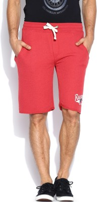 Russell Athletic Solid Men's Red Sports Shorts