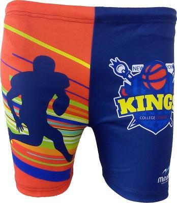 Mitushi Products Printed Men's Orange Swim Shorts