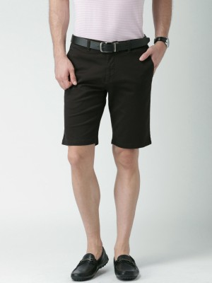 Invictus Solid Men's Brown Basic Shorts