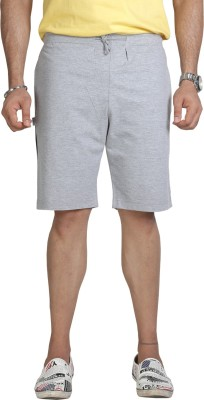 Allocate Solid Men's Grey Sports Shorts, Gym Shorts