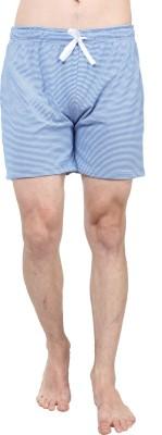 SayItLoud Striped Men's Blue, White Gym Shorts