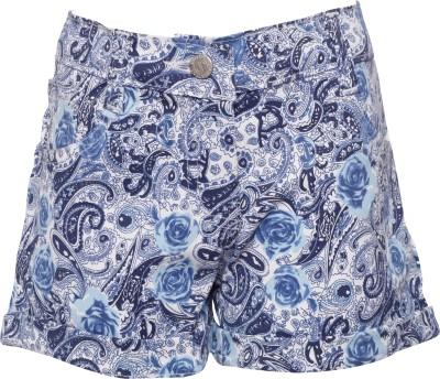 Joshua Tree Printed Girl's Blue Hotpants