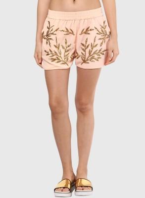 Vero Moda Embellished Women's Pink Basic Shorts
