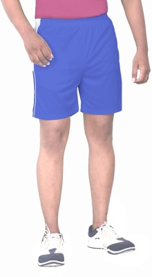 SPORTEE Solid Men,s Blue Sports Shorts