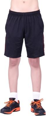 DFH Solid Men's Black Beach Shorts, Gym Shorts, Sports Shorts